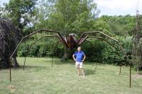 installation araignée Géante , Herbourg Daniel. sculpteur