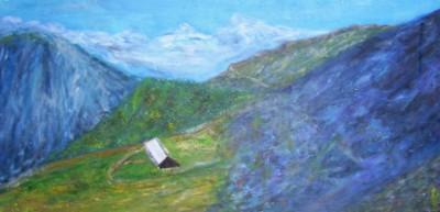 La vallée de la Tarentaise II., acrylique sur toile