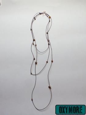 Capurgana : Sautoir-Bracelet en Cuir et en Argent Recycl�  ttps://oxymore-creations.com/fr/pendentifs-colliers/40-carpurgana-version-sautoir.html