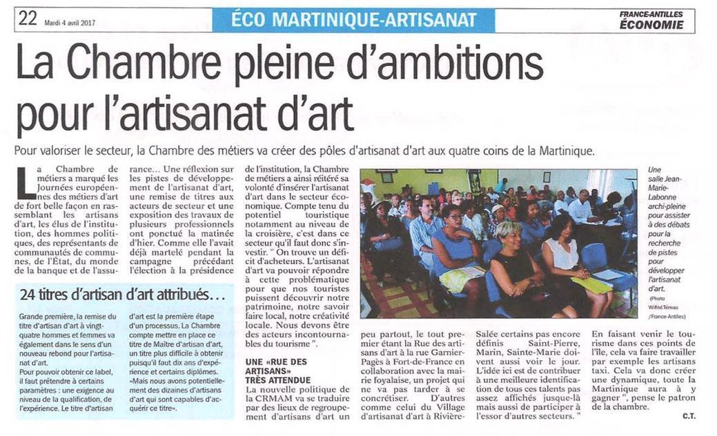 Actualité de Cathy de Moussac Baba Figue Créations Journées Européennes des Métiers d'Art