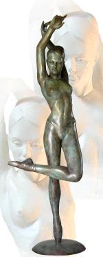 Bronze hauteur 102 cm