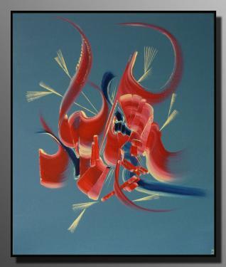 MATIN TENDRESSE Taille : 46X55 Peinture abstraite   Acrylique au couteau/pinceau Toile sur ch�ssis bois Cotation Drouot Site officiel : http://www.mapeinturesurtoile.com Prix : me contacter