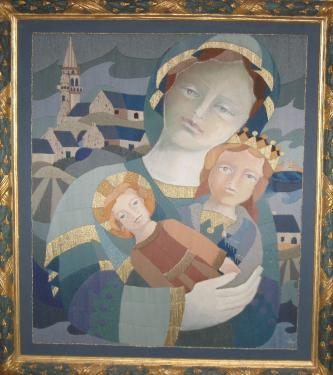 Ste Anne ( retable de la chapelle de l'�le Callot � Carantec)