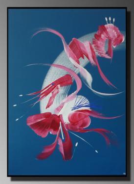 INTRUSION Taille : 50X70 Peinture abstraite   Acrylique au couteau/pinceau Toile sur châssis bois Cotation Drouot Site officiel : http://www.mapeinturesurtoile.com Prix : me contacter