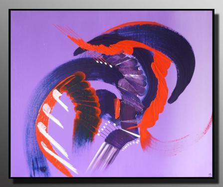 L'EMPRISE Taille : 61X50 Peinture abstraite   Acrylique au couteau/pinceau Toile sur ch�ssis bois Cotation Drouot Site officiel : http://www.mapeinturesurtoile.com Prix : me contacter
