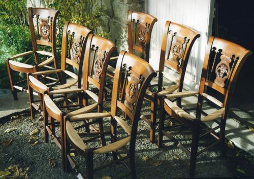 copie de 7 chaises directoire