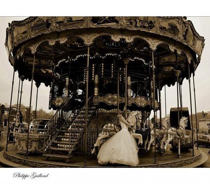 robe de mariée en tulle et guipures