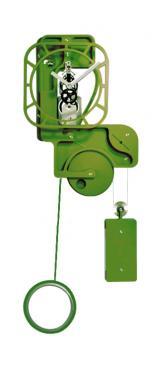 Horloge Murale: POP UP Skeleton Vert pomme.  Mouvement mécanique (clé, poids, balancier)à remontage manuel, corps en composite (résine, papier kraft) de 10 mm d'épaisseur, hauteur (corps + balancier) 1,30 m, largeur 0,50 m, réserve de marche 10 jours.   Après les imposantes de bois, les élégantes d?inox et les époustouflantes en verre acrylique, UTINAM Besançon présente les détonantes POP UP. Elles viennent étoffer la grande famille des horloges comtoises, trois fois centenaires, revues et sublimées par Philippe LEBRU, designer et explorateur de temps.