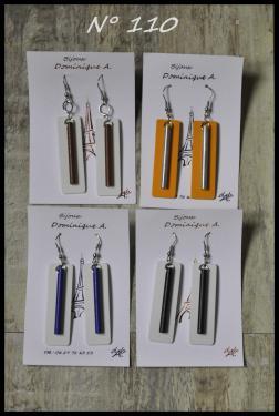 Bijou en aluminium N°110 Longueur 5 cm, largeur 1.5 cm Plusieurs couleurs disponibles, et personnalisables.