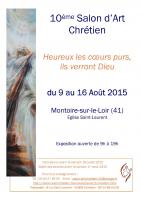 MONTOIRE SUR LOIR : SALON D'ART CHRETIEN , NICOLE BOURGAIT THIERRY LE SET DES FLEURS