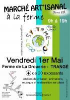 Marché artisanal à la ferme vend 1er mai à Trangé , Dany Théau Les Ateliers du Petit Pont Tapissier & Restaurateur