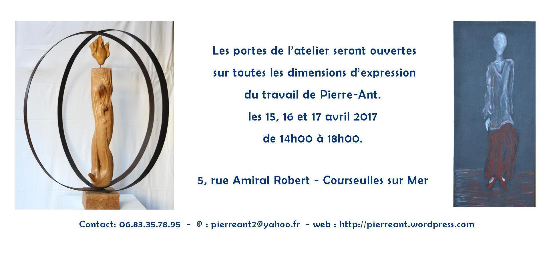 Actualité de pierre-antoine maignier Pierre-Ant. sculpture peinture Atelier portes ouvertes