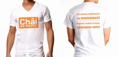 Réalisation d'un Logo et de T-shirts personnalisés. Pour une association Marnaise.