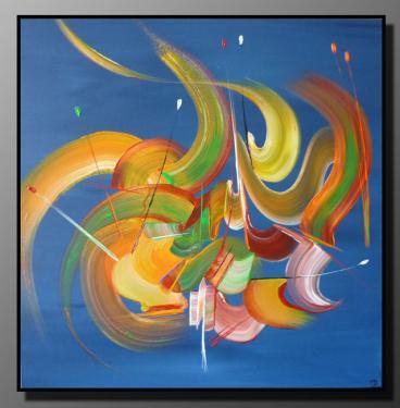 LES RUBANS Taille : 50X50 Peinture abstraite   Acrylique au couteau/pinceau Toile sur ch�ssis bois Cotation Drouot Site officiel : http://www.mapeinturesurtoile.com Prix : me contacter