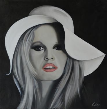 Huile sur toile 50x50 cm: Brigitte B.