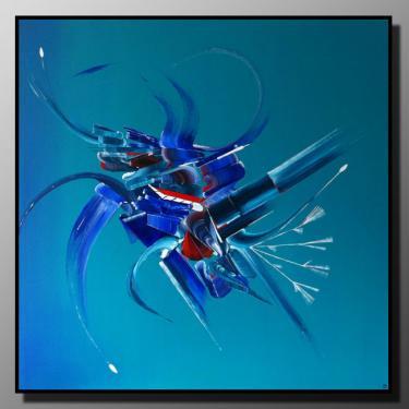 DOUCE TENTATION Taille : 80X80 Peinture abstraite   Acrylique au couteau/pinceau Toile sur ch�ssis bois Cotation Drouot Site officiel : http://www.mapeinturesurtoile.com Prix : me contacter