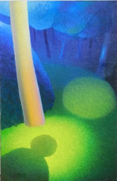 Huile sur toile | DANS LA FORET  Dimensions 65 x 100 cm