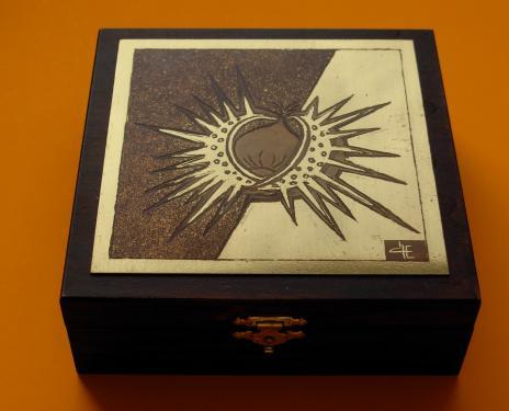 Boîte à bijoux Châtaigne 14x14x4,5h