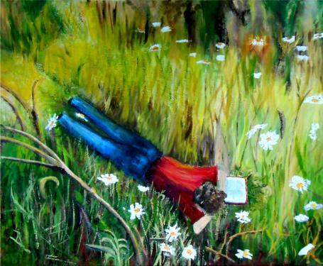 Huile sur toile  Une oeuvre inspirée par mon petit fils
