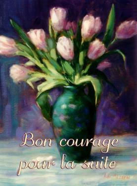 carte MEZ - Bon courage tulipes