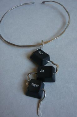 Collier clavier Sissi brin d'acier