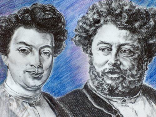 Portrait peinture de M.Alexandre Dumas Ann�e 2002