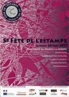 FÊTE DE L'ESTAMPE AVEC MANIFESTAMPE , Jean-Pierre GUAY Atelier d'estampe Croqu'Vif ®