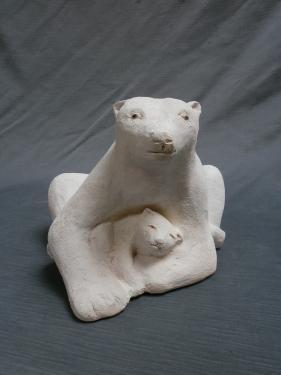 Maman ours et son petit...exposés Atelier des Loys...
