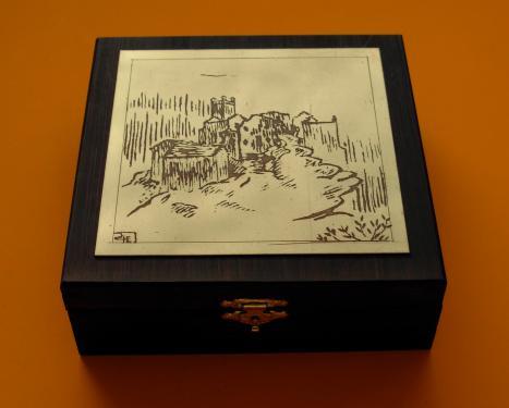 Bo�te � bijoux Ch�teau de Br�sis    14x14x4,5h