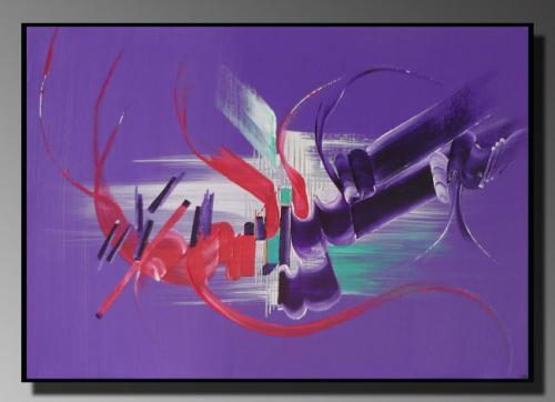 LA PARADE Taille : 46X33 Peinture abstraite   Acrylique au couteau/pinceau Toile sur ch�ssis bois Cotation Drouot Site officiel : http://www.mapeinturesurtoile.com Prix : me contacter