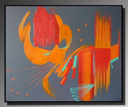 PROVIDENCE Taille : 61X50 Peinture abstraite   Acrylique au couteau/pinceau Toile sur châssis bois Cotation Drouot Site officiel : http://www.mapeinturesurtoile.com Prix : me contacter