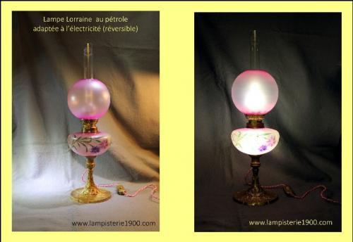 Adaptation(sans aucune modification) à l'usage électrique OLED de dernière génération; éclairage interne du réservoir tout en conservant l'usage au carburant ! (EXCLUSIVITE LA LAMPISTERIE 1900).