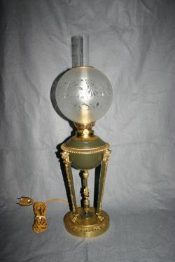 Epoque Napol�on 3 une rare lampe d'ORIGINE ELECTRIQUE ! D�but des applications de l'�lectricit� !