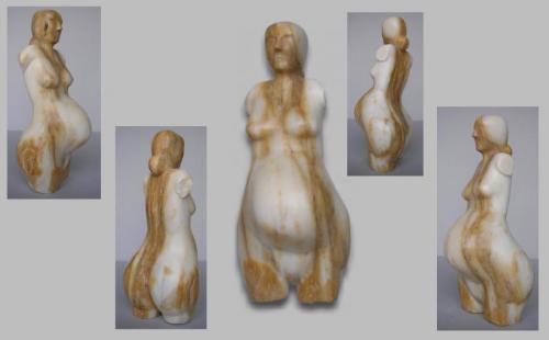 Création N 1 en marbre jaune de sienne