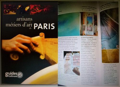 En 2008- Article d'une demi-page dans le livre des ateliers de paris, édition Gallimard.