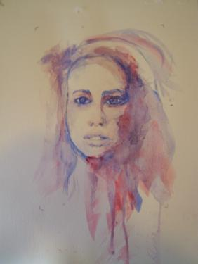 Le regard, I. aquarelle