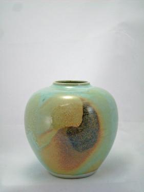 vase en porcelaine, céladon, effet du feu
