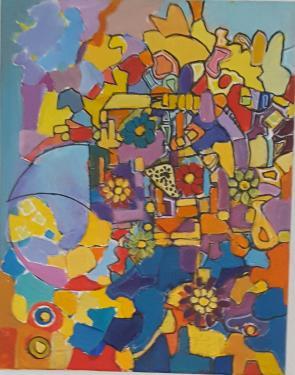 description acrylique  40 sur 50