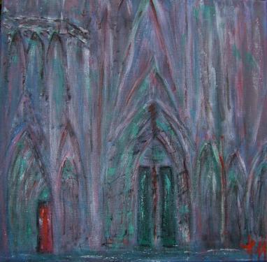 Cathédrale de Strasbourg, acrylique sur toile