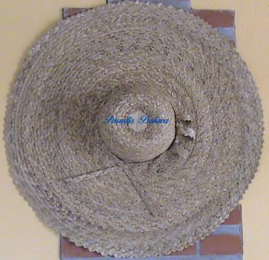 Chapeau du jardin bord 24cm avec une déco N°13