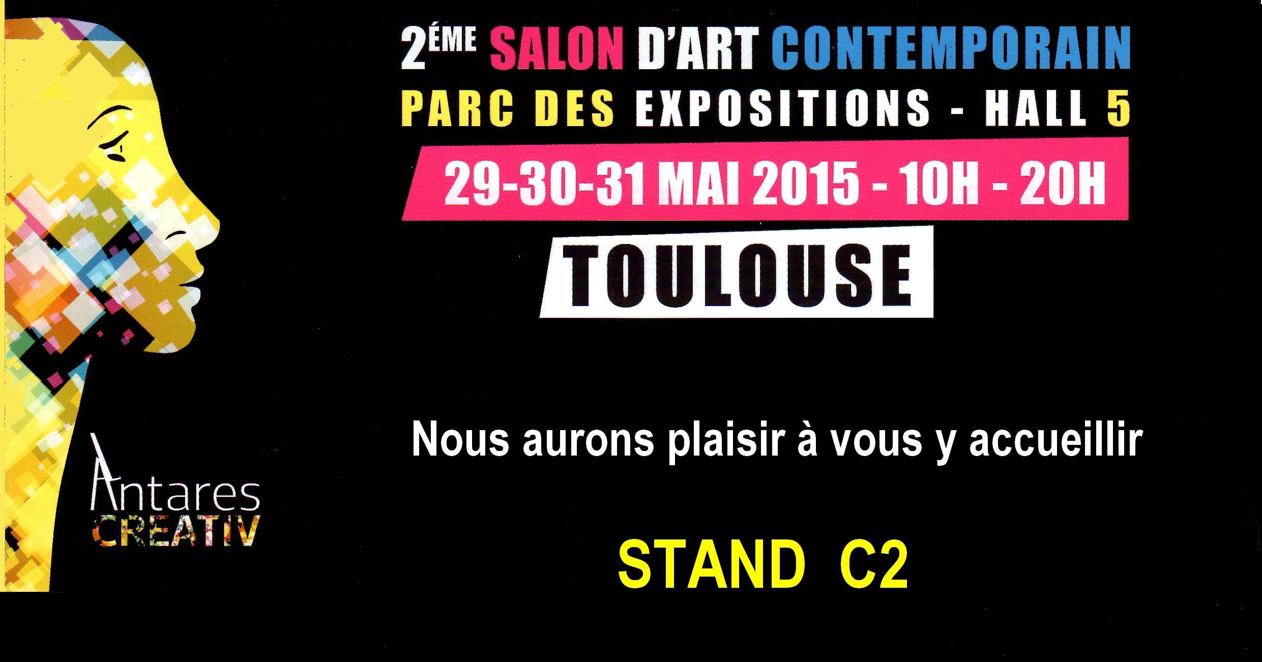 Actualité de   HEIM Marine et HIBON Monique SALON D' ART CONTEMPORAIN TOULOUSE  2015