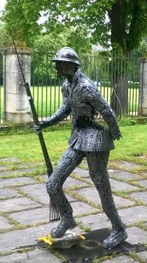 sculpture réalisée avec les élèves de Bar-le-Duc