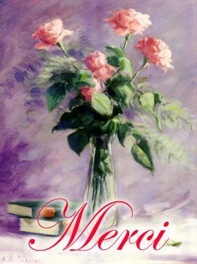 carte MEZ - Merci roses