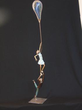 Légèreté de l'être H 90 cm ( variable ) Cuivre patiné
