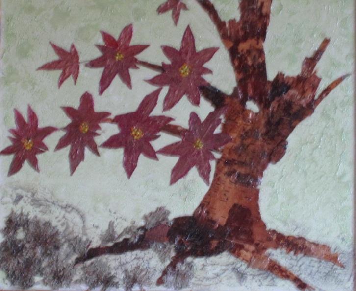 Actualité de NICOLE BOURGAIT THIERRY LE SET DES FLEURS 46. ARBRE MORT  FLEURI - Ecorce de bouleau - Liquidambar -       35/45 cm