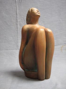 En extase ...Dimensions ;H 20 cm exposée galerie du Passage à Périgueux