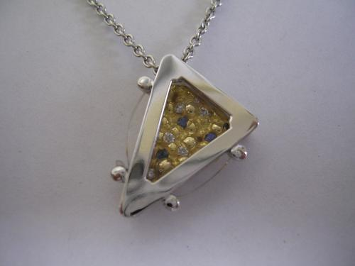 Pendentif Coffee Table or gris et or jaune