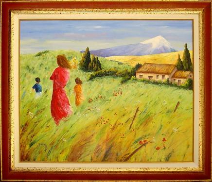 La robe rouge  Peinture huile sur toile  Cadre bois avec dorure  Format total 89 x 76  Certificat d'authenticité  Prix 490.00 ?  Frais d'envoi 9.00 ?   Chez vous en 72 heures ou a retirer à notre atelier