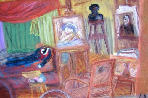 L'atelier de Renoir, Cagnes-sur-Mer, pastels