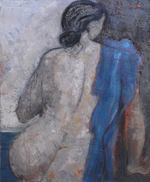 LE REVE BLEU ?uvre originale huile sur toile Dimensions : 81 x 65 cm